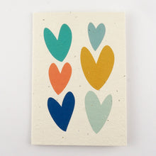 Load image into Gallery viewer, Love Hearts Plantable Seeded Greeting Card