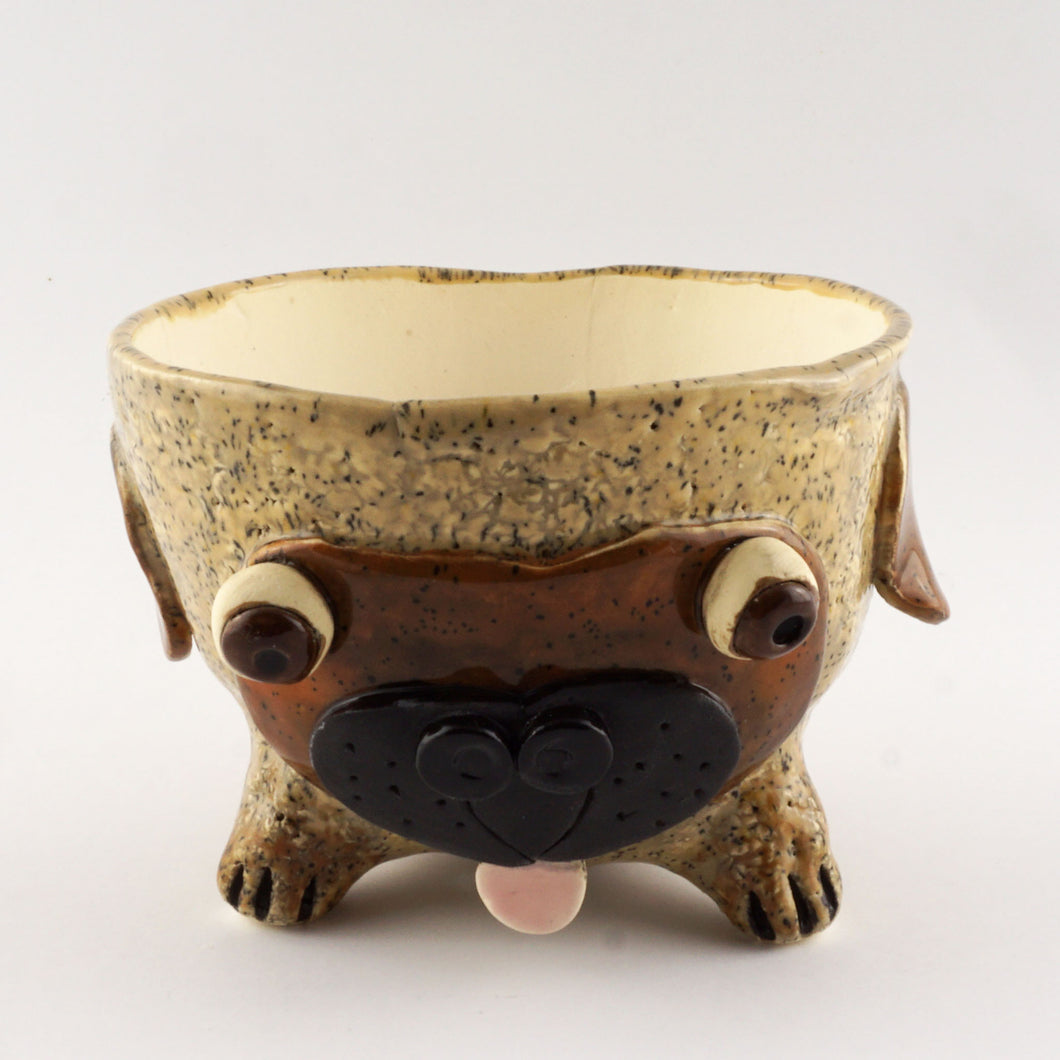 Pug Ceramic Pot Planter