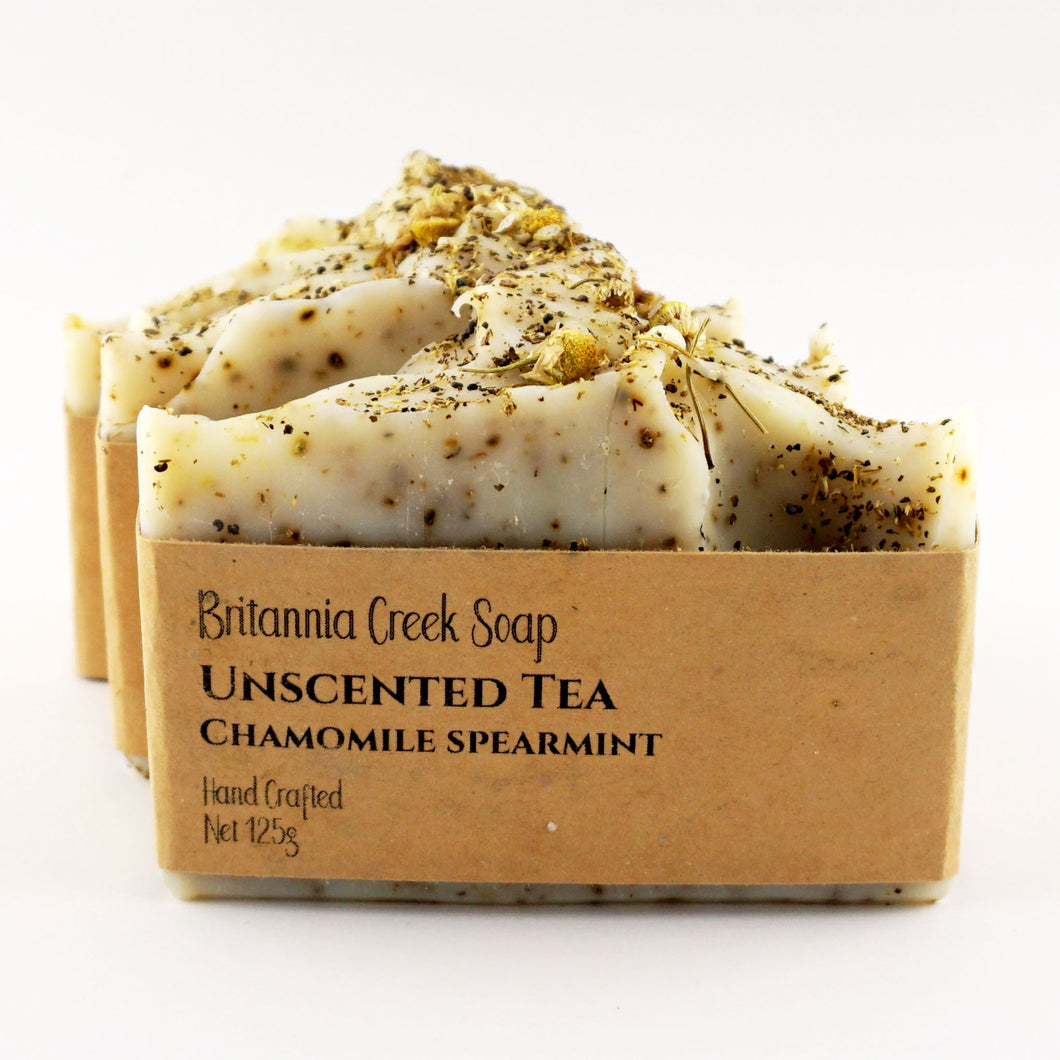 Unscented Tea of Chamomile & Spearmint Artisan Soap