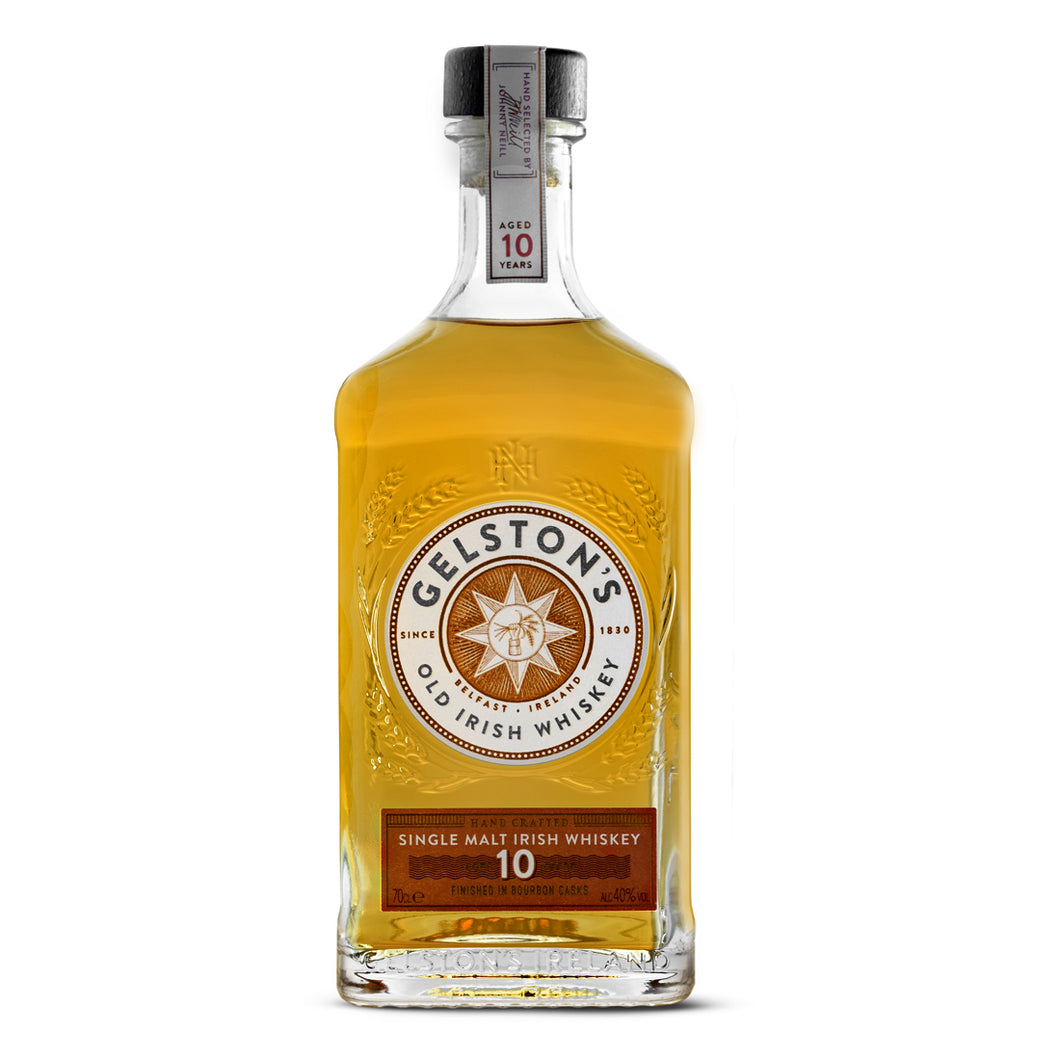 Samuel Gelston's Aged 10 Years Bourbon Cask Finish Single Malt Irish Whiskey