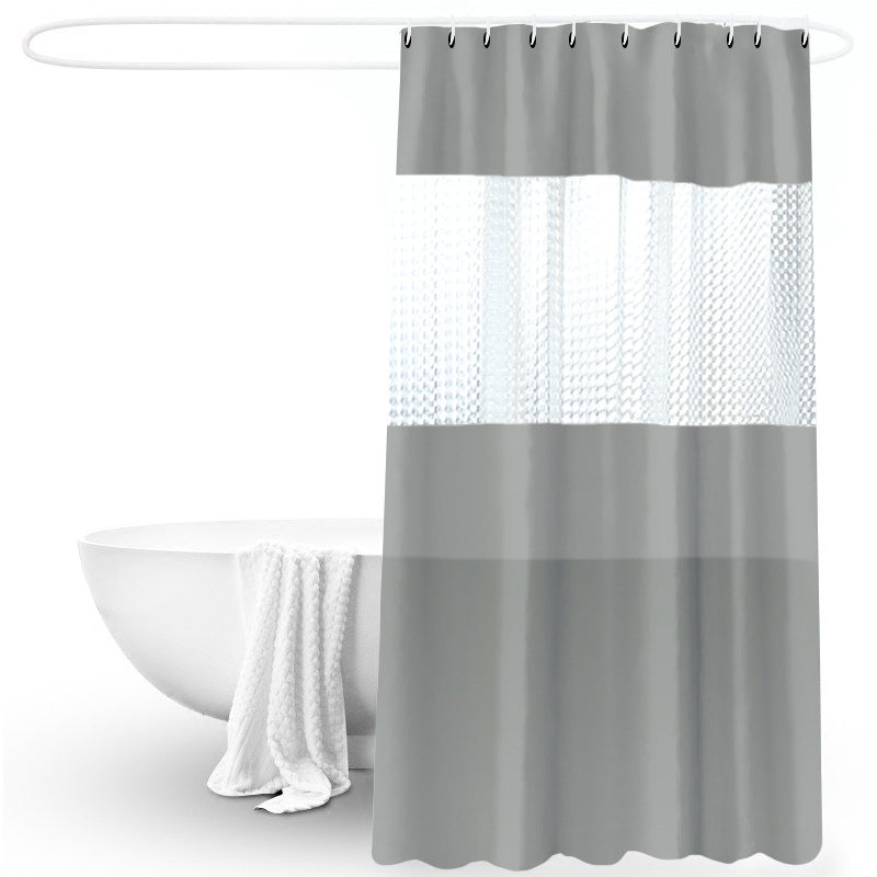 Shower Curtain Waterproof Solid Color Thick Stitching 180*200cm