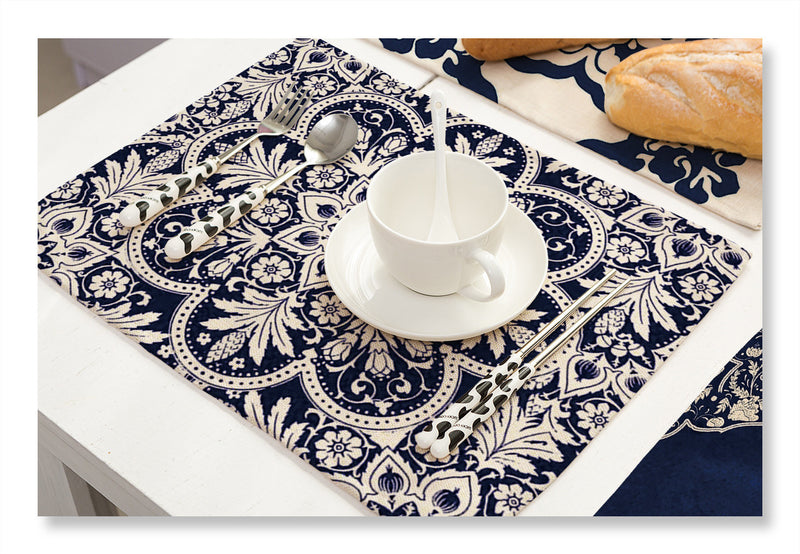 Cotton and linen cloth art heat insulation western placemat