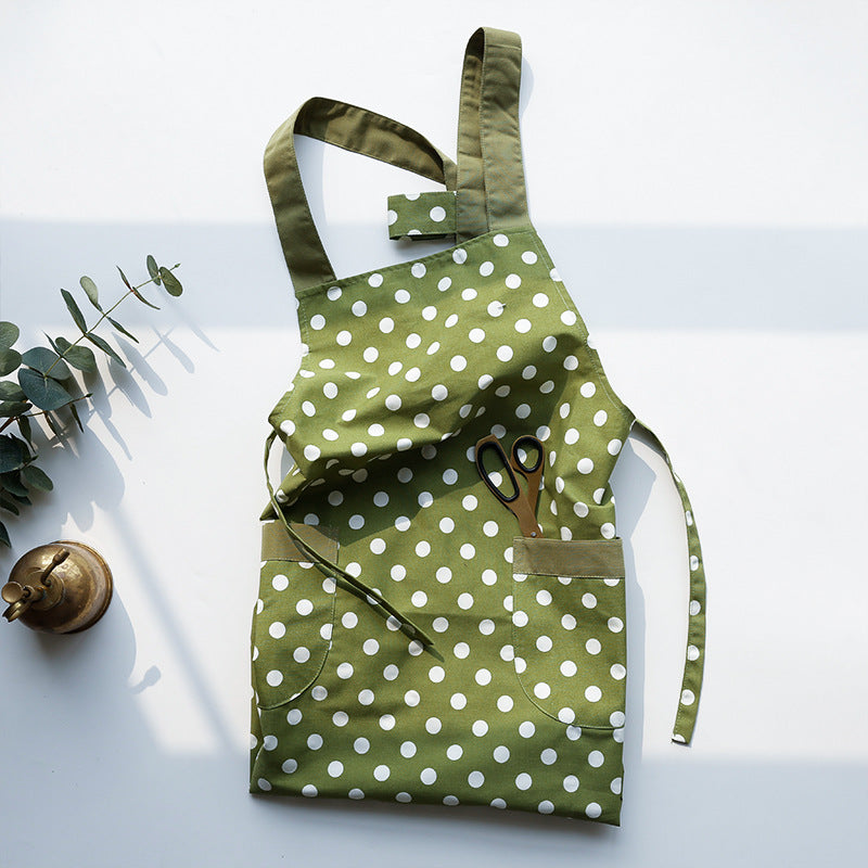Quick-drying vest polka dot apron