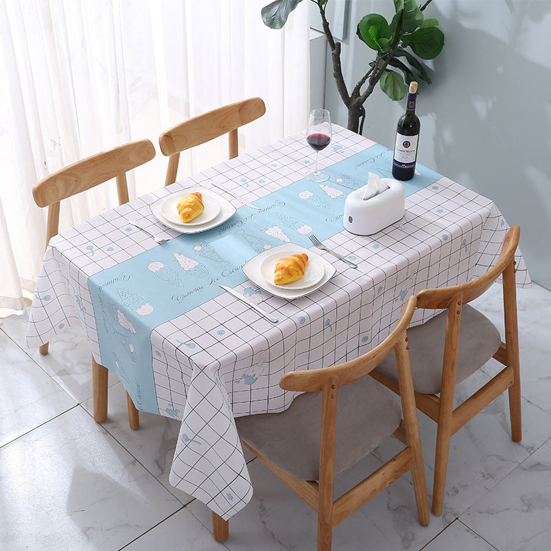 PVC Living Room Anti-scald and Oil-proof Disposable Tablecloth 180*137cm