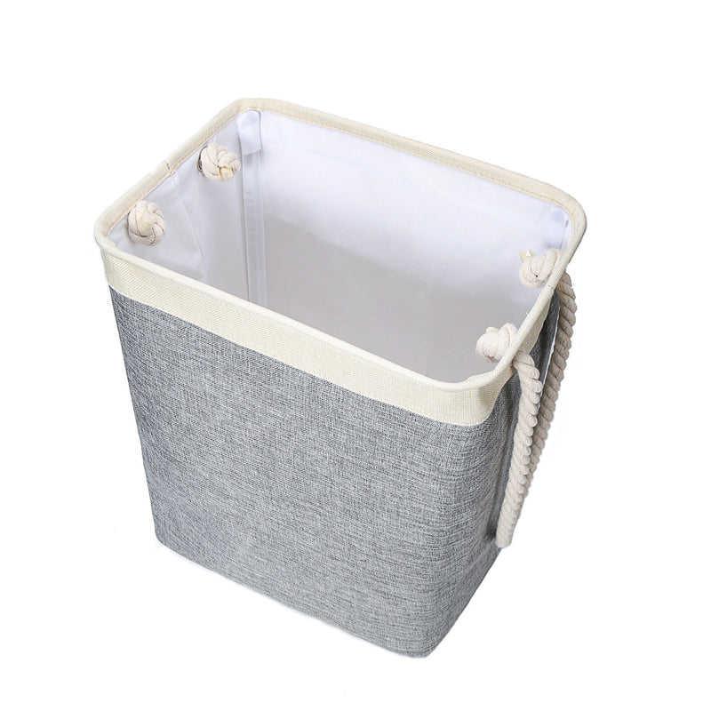 Cotton Linen Dirty Clothes Basket Storage Bucket