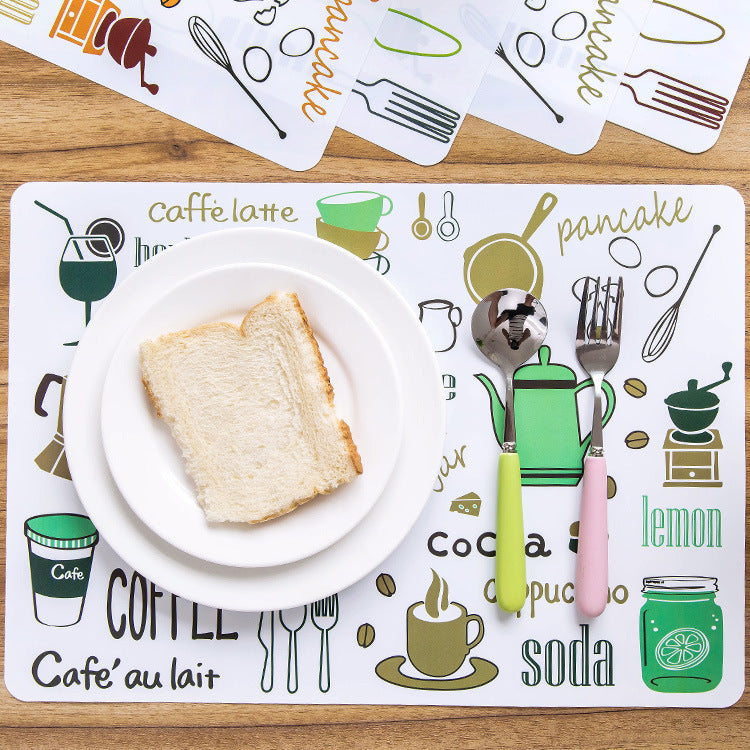 PVC Table Mat, Heat Insulation Pad, Plate Mat, Waterproof and Stainproof Placemat 8pieces
