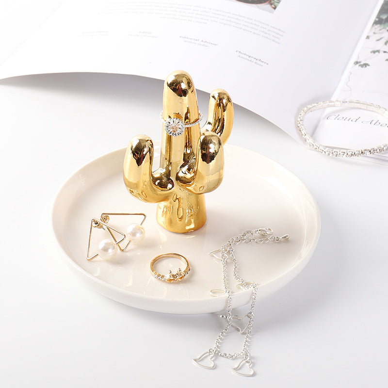 Ceramic Antler Jewelry Tray Creative Home Furnishings