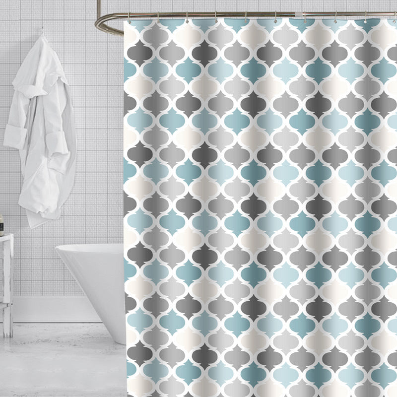 Color Printing Waterproof Shower Curtain
