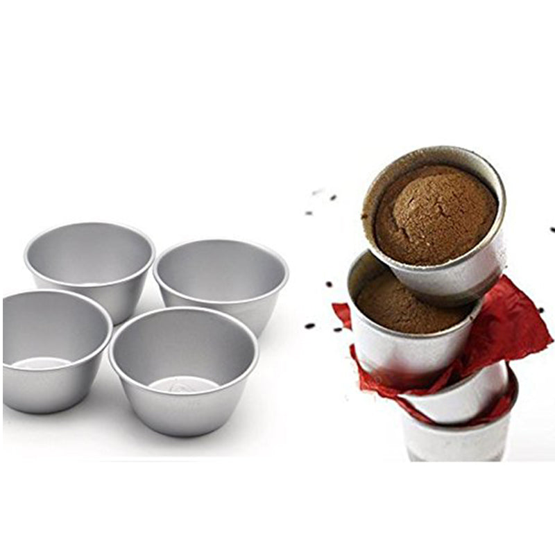Pack of 8 Individual Molds/ Chocolate Molten Pans/ Pudding Cups