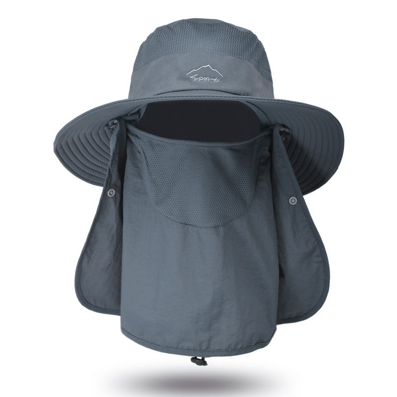 Quick-drying Sunscreen Fisherman Hat Fishing Breathable Sun Hat Female Face Cover Hat