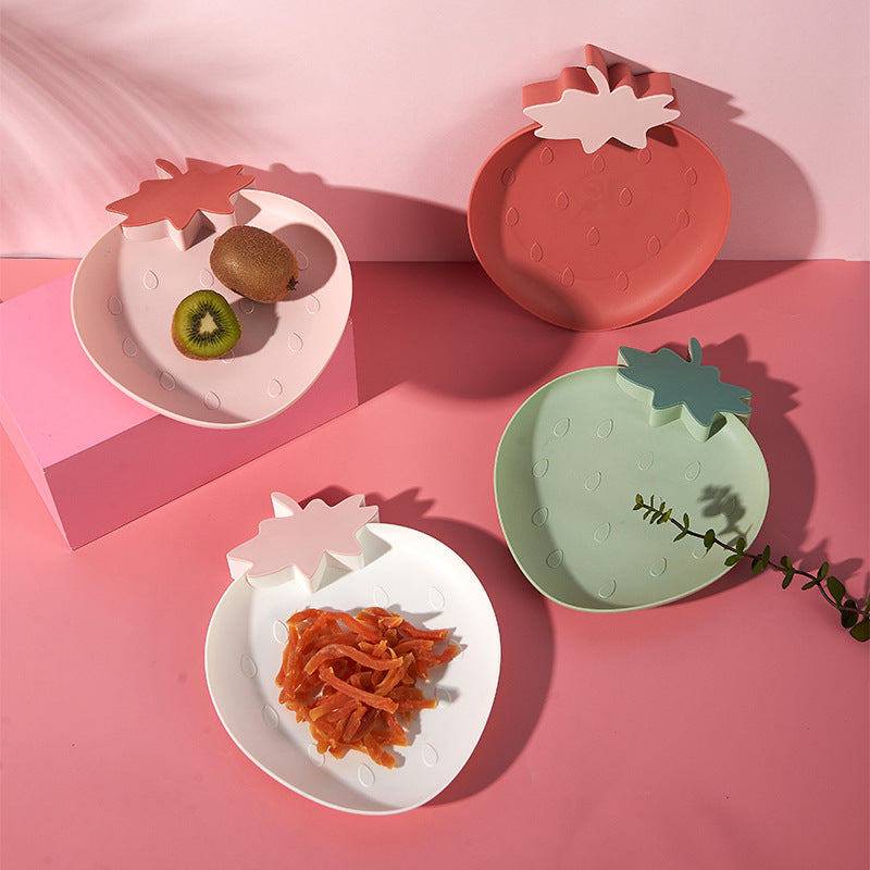 4 Pcs Snack Fruit  PP Plate