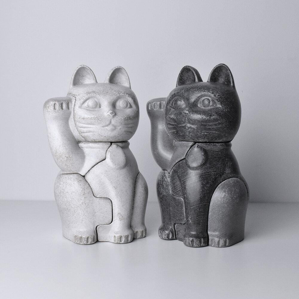3D Puzzle Buddy Manekineko - black (small)