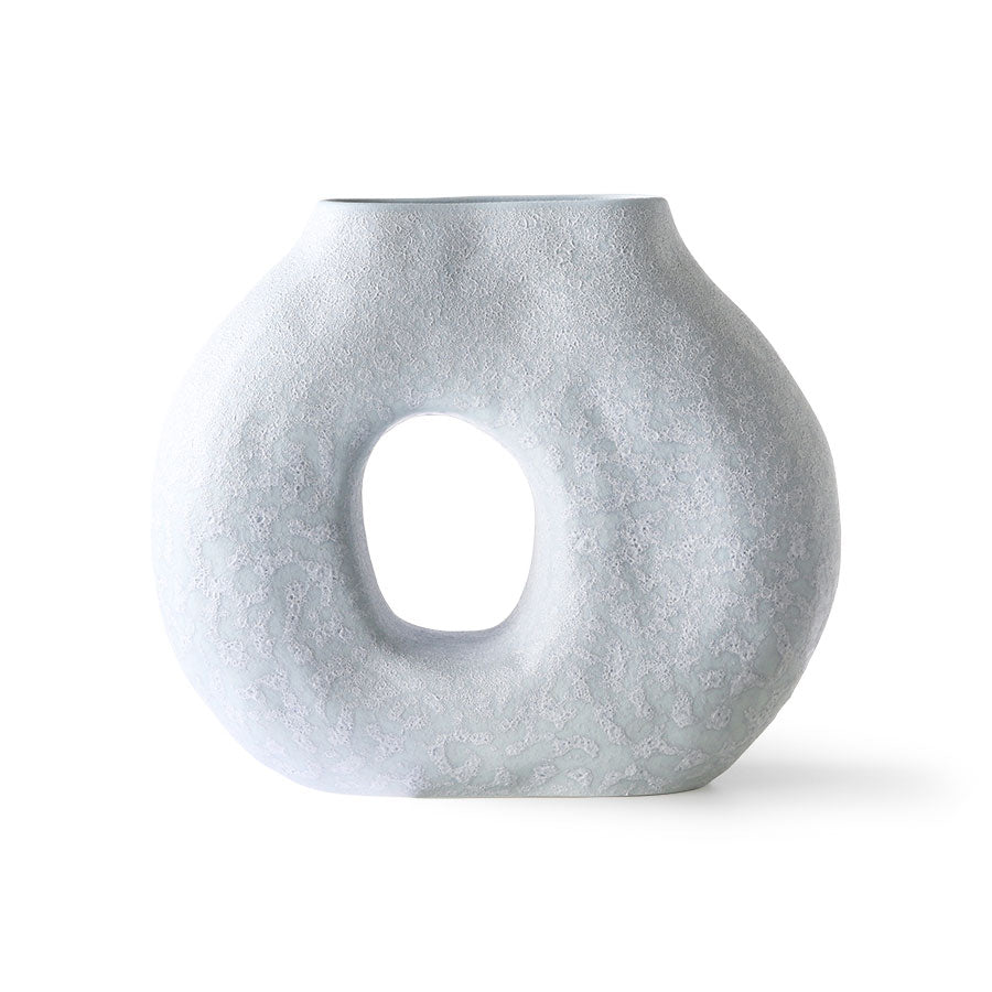 HKLIVING ORGANIC CIRCLE VASE MATT ICE BLUE