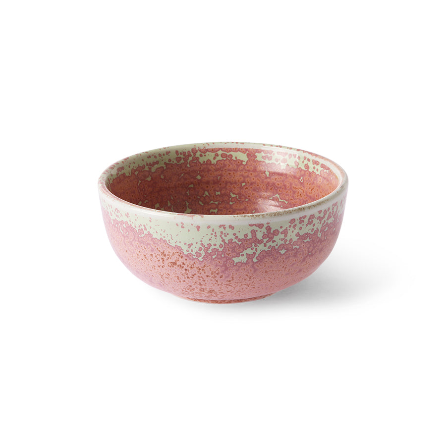 HKLIVING HOME CHEF CERAMICS BOWL RUSTIC PINK