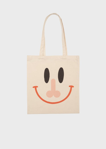 BITAGORE TOTE BAG BEIGE - #hapi Fish-BAG