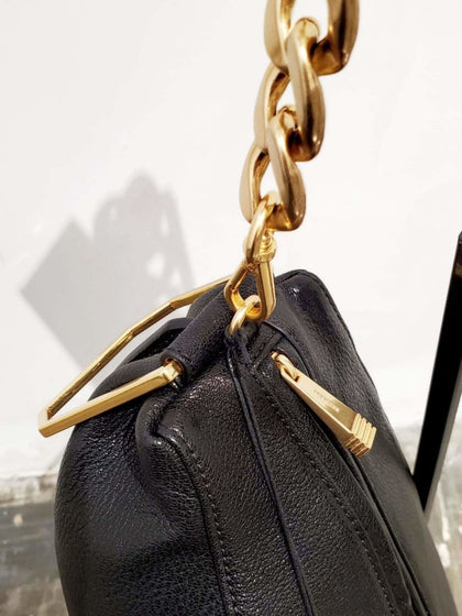 BLACK CALF SOFT SHAPE SHLD BAG - #hapi Fish-BAG