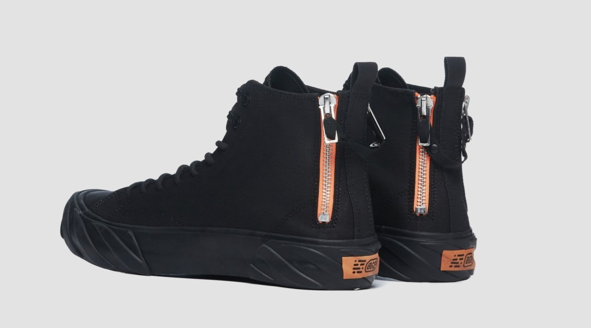CARBON COATED CANVAS HIGH TOP BLACK US 8
