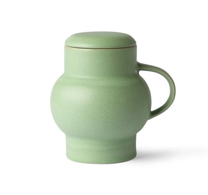 ceramic bubble tea mug L green - #hapi Fish-CUP