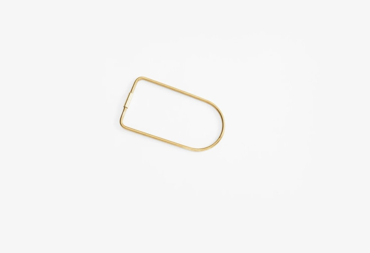 Contour Key Ring Brass (bend)