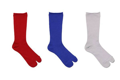 DECKA SPLIT TOE MERINO WOOL RED W - #hapi Fish-SOCKS