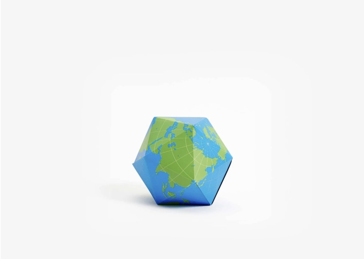 Dymaxion Globe (blue/green)
