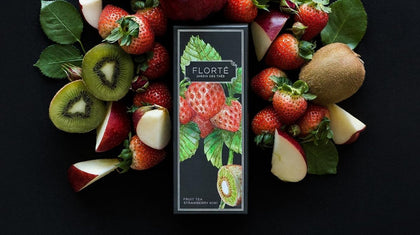 FLORTE STRAWBERRY KIWI TEA 100G - #hapi Fish-OTHER