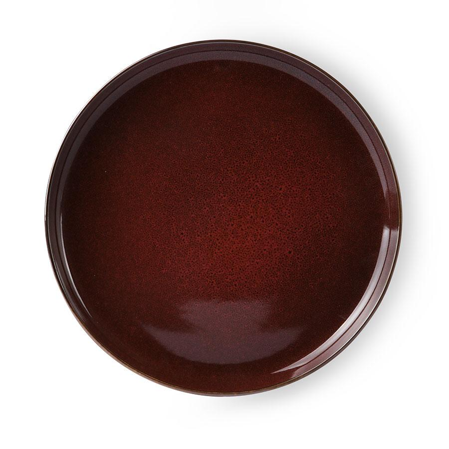 HKLIVING BOLD & BASIC CERAMICS DINNER PLATE CERISE