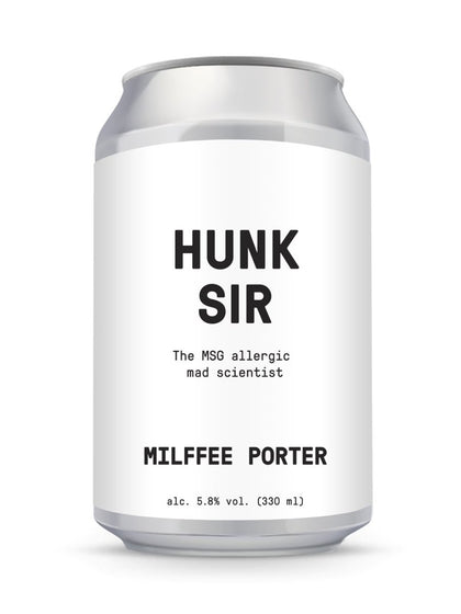 HUNK SIR Milffee Porter 330ml - #hapi Fish-BEER