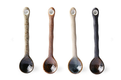 japanese ceramic tea spoons (set of 4) - #hapi Fish-CUP
