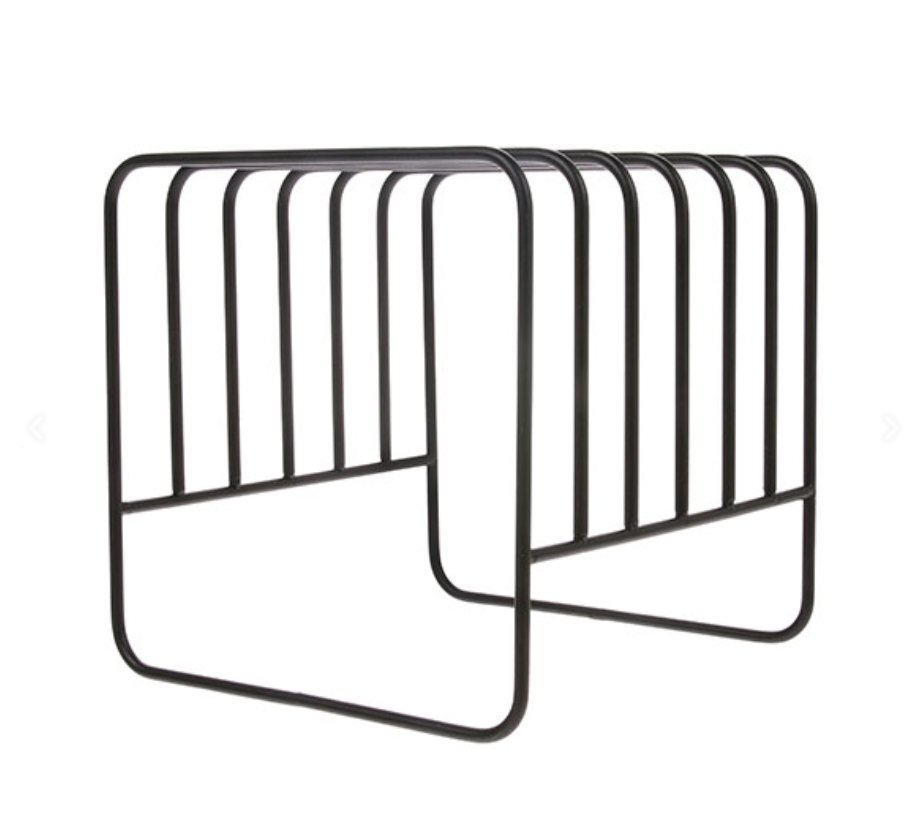 metal wire plate rack matt black