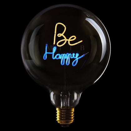 MITB BE HAPPY MSG LIGHT - #hapi Fish-Light bulb