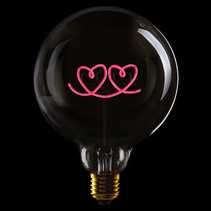 MITB DOUBLE HEART MSG LIGHT - #hapi Fish-Light bulb