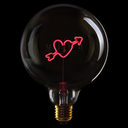 MITB HEART ARROW MSG LIGHT - #hapi Fish-Light bulb
