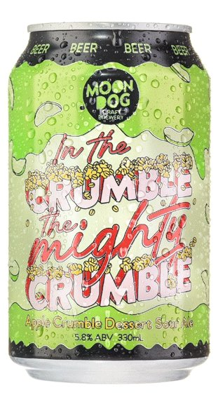 MOON DOG IN THE CRUMBLE, THE MIGHTY CRUMBLE APPLE CRUMBLE SOUR ALE 330ML - #hapi Fish-BEER