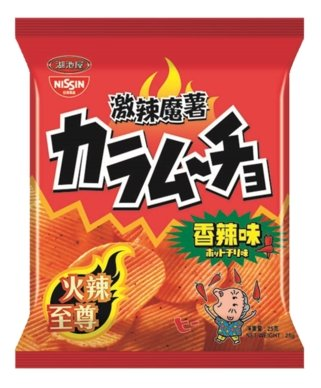 Nissin Koikeya Foods Karamucho Hot Chilli Flavour Potato Chips - #hapi Fish-CHOCOLATE & SNACKS