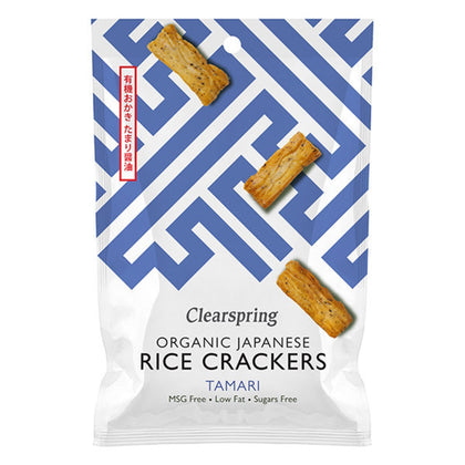 Organic Japanese Rice Crackers - Tamari - #hapi Fish-Noodle