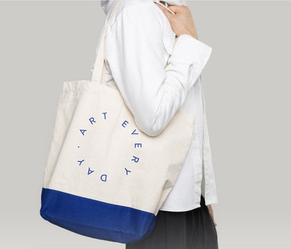 Poketo BMT Art Every Day Tote C - #hapi Fish-TOTE BAG