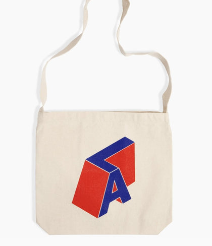 Poketo ECO LA Letters Tote Blue - #hapi Fish-TOTE BAG