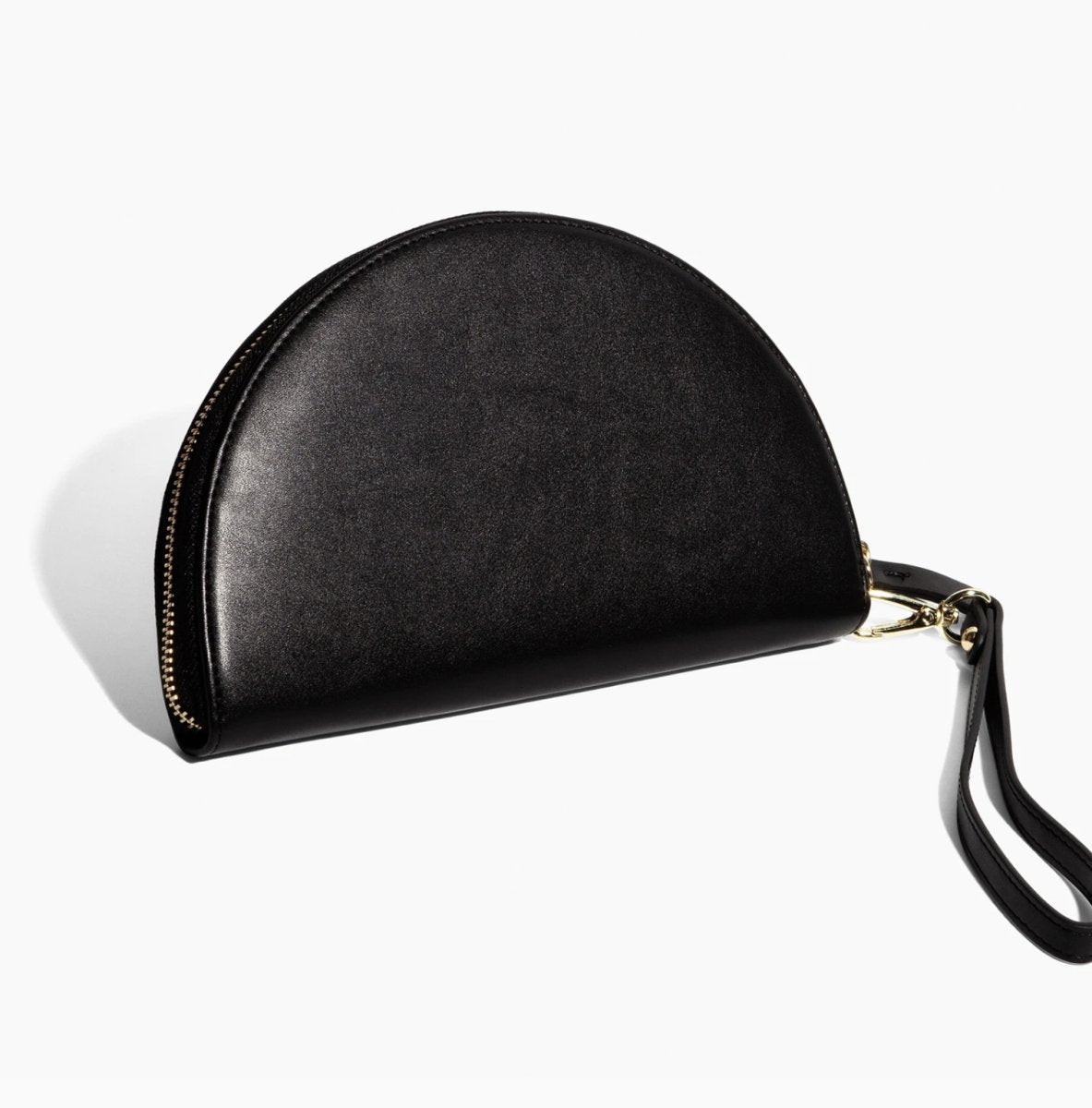 Poketo Half Moon Clutch in Black