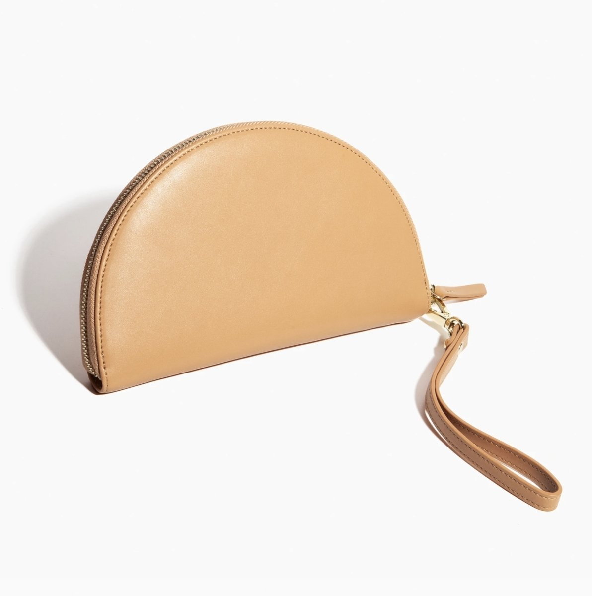 Poketo Half Moon Clutch in Tan