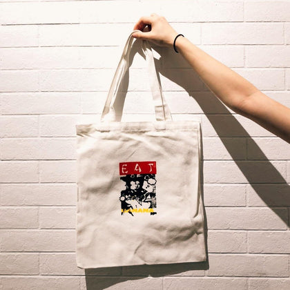 "Screen Printing ""Eat Banana"" Tote Bag - #hapi Fish-TOTE BAG"