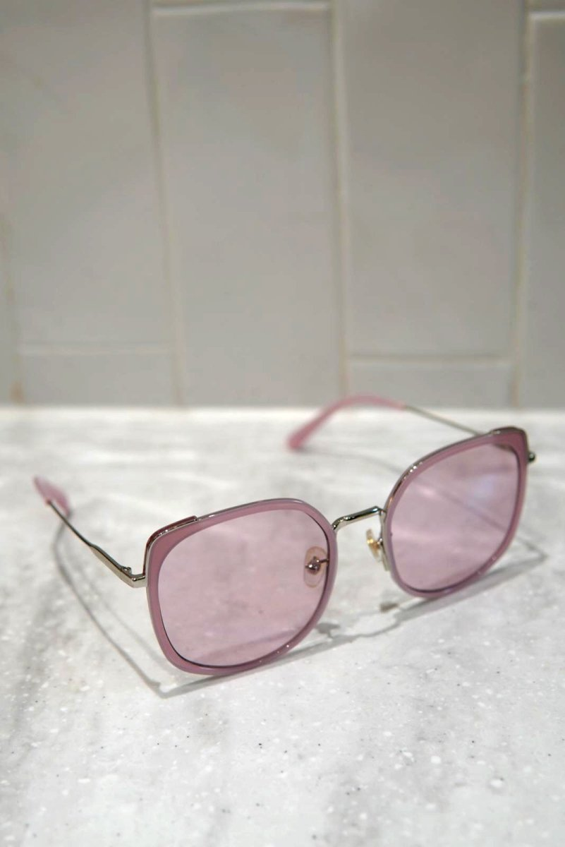 SHINY ROSE X GOLD VINTAGE ROUND SHAPE SUNGLASSES F