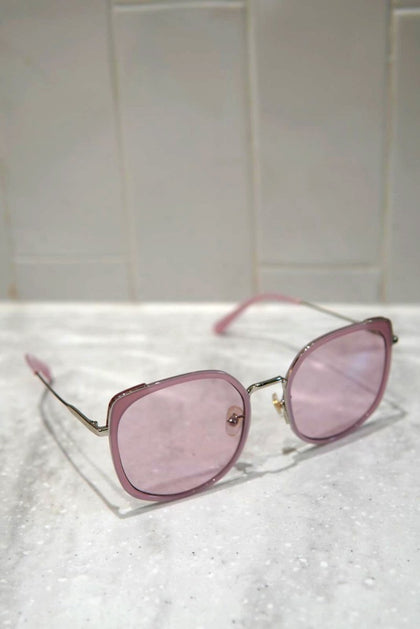 SHINY ROSE X GOLD VINTAGE ROUND SHAPE SUNGLASSES F - #hapi Fish-GLASSES