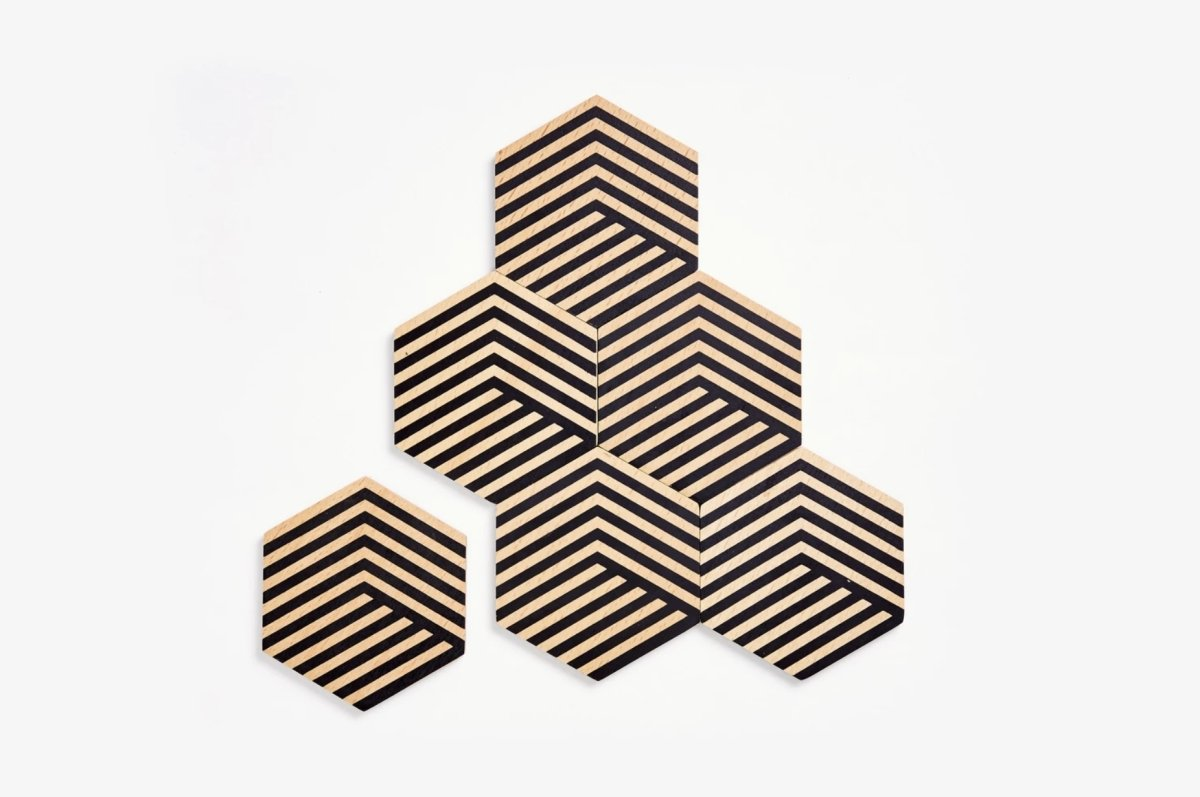 Table Tiles (black + beige)
