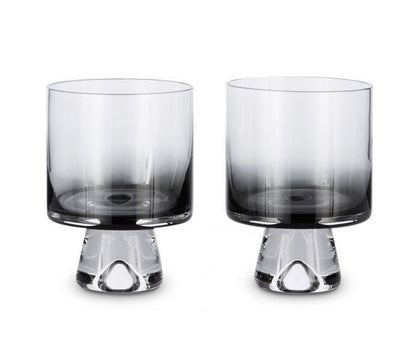 Tank Low Ball Glasses x2 Black - #hapi Fish-CUP