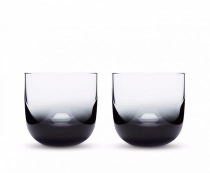Tank Whiskey Glass X2 Black - #hapi Fish-CUP