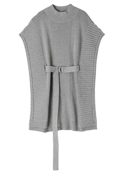 UN3D WAIST BELT KT VEST - #hapi Fish-KNIT TOP