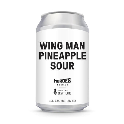 WING MAN Pineapple Sour 330ml - #hapi Fish-BEER