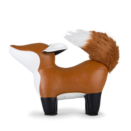 Zuny Bookend Fox Furi Tan+White - #hapi Fish-HOME DECO