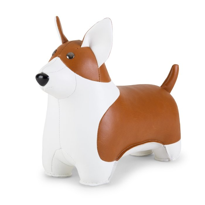 ZUNY CLASSIC CORGI TAN+WHITE BOOKEND
